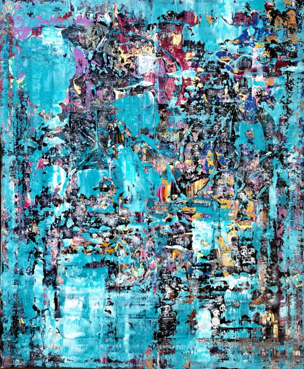 Painting, acrylic, abstract, artwork by Jean François Guelfi