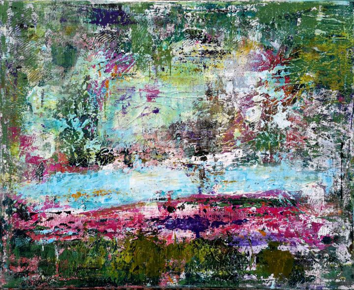 Abstraction 28-20 - Peinture,  19,7x24x0,8 in, ©2020 par Jean François Guelfi -                                                                                                                          Abstract, abstract-570
