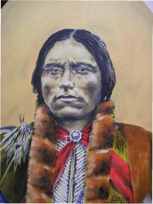 """Painting titled """"chief"""" by Guerro, Original Art,"""