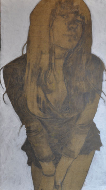"""Drawing titled """"Priscila #3"""" by Guillaume Canva (.cG.), Original Art, Pencil"""