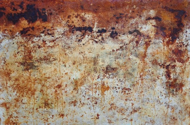 OXYDES - Painting,  39.4x59.1 in, ©2018 by Guillaummart -                                                                                                                                                                                                                                                                                                                                                                                                                                                                                                                                                                      Metal, salon d'automne de paris, salon d'automne 2018, salon d'automne de paris 2018, acier, oxydes, oxydation, rust, salon d'automne, art environnemental, salon d'automne paris, salon d'automne paris 2018