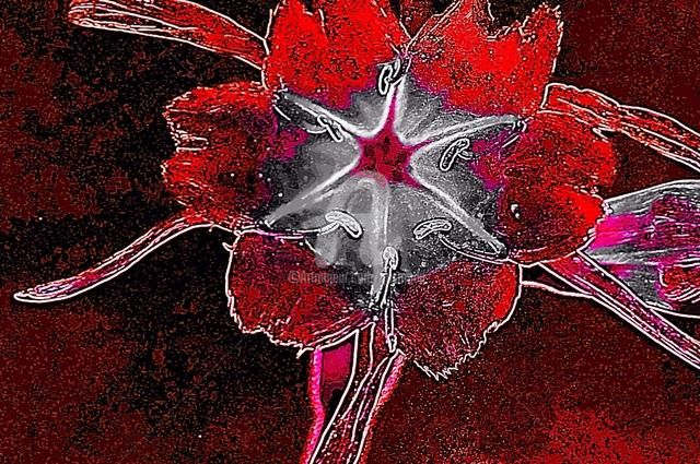 FLORES 2 - Painting,  80x120 cm ©2012 by Gustavo Moller -