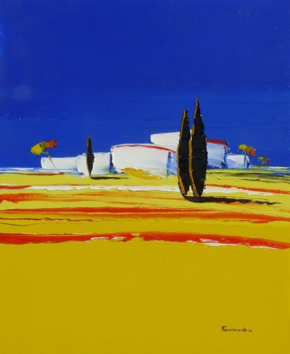 provence-8f.jpg - Painting, ©2018 by Guy Fontdeville -