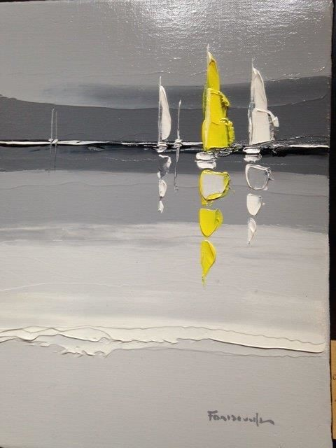 voile-jaune-mer-noire.jpg - Painting, ©2018 by Guy Fontdeville -