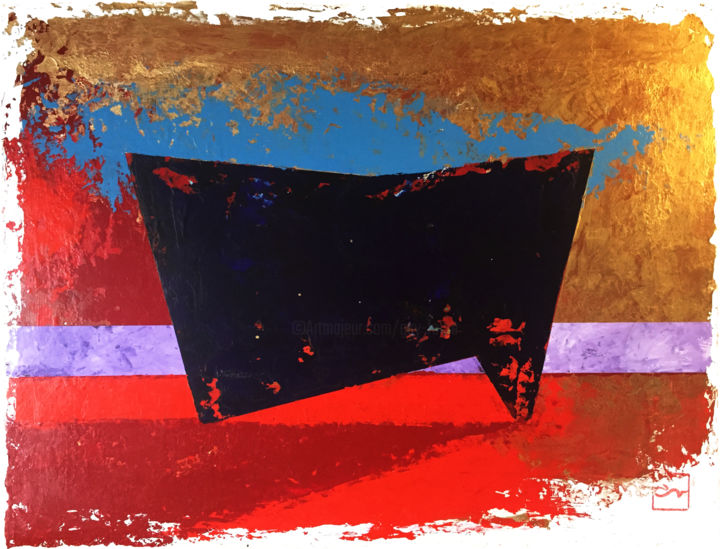 """Painting titled """"TOROS MEGALITHE 05"""" by Guy Fouré, Original Art, Acrylic"""