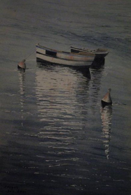Painting ©2012 by Guylaine -  Painting, Realism, barques