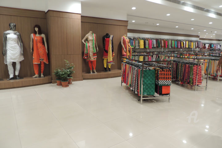 Mode indienne, magasin KOCHI, saris - Photography ©2014 by Guylaine / GuyL'ami.ART -                                                                                                                                Documentary, Illustration, Asia, Colors, World Culture, Women, Fashion, Cities, Travel, magasin, boutique, mode, femme, indienne, sari, robes, couleurs, Kochi, Kerala, Inde