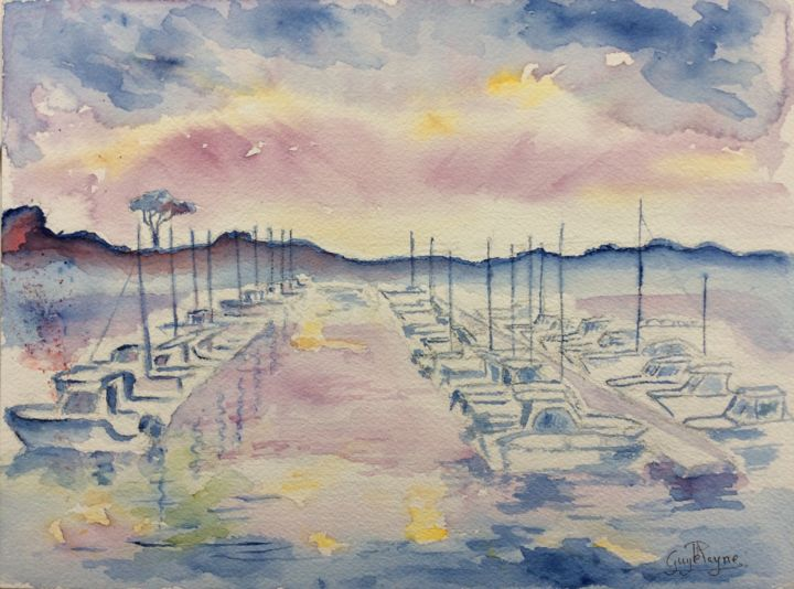 Impression Soleil Couchant Sur Le Port De Morgat Pintura Por