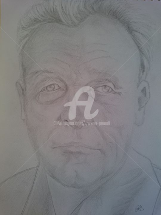 Portrait - Drawing, ©2010 by Gwenn Pinault -                                                              portrait
