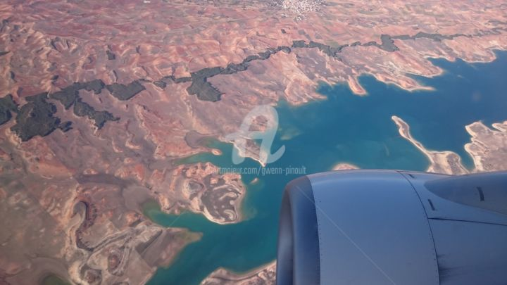 Flying over Spain - 3334 - Photography, ©2019 by Gwenn Pinault -                                                                                                          vue aérienne, Espagne