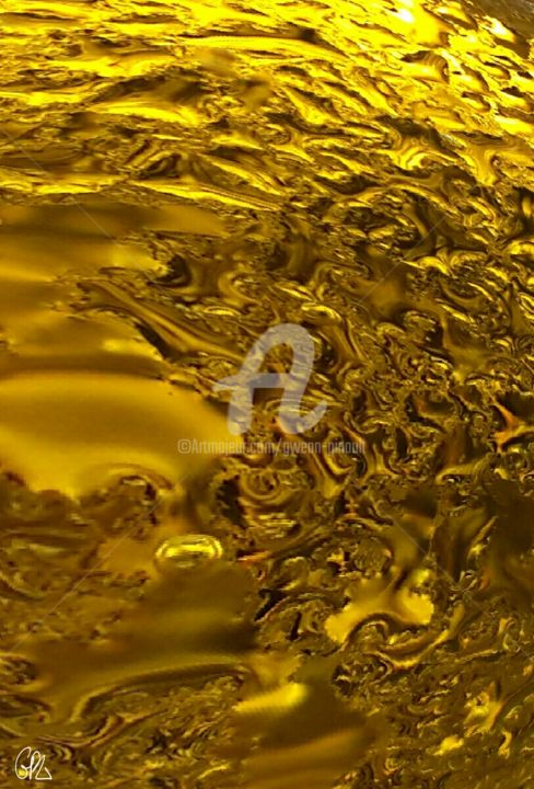 Méandres d'ors - Photography, ©2015 by Gwenn Pinault -                                                                                                                                                                                                      Abstract Art, méandres, liquides, or