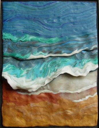 Painting with Clay: Waves Against the Wind, No. 1