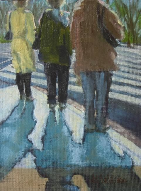 """Painting titled """"In the Shadows"""" by Gloria Nilsson, Original Art, Oil"""