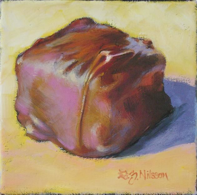 """Painting titled """"Square Inch of Ecst…"""" by Gloria Nilsson, Original Art, Oil"""