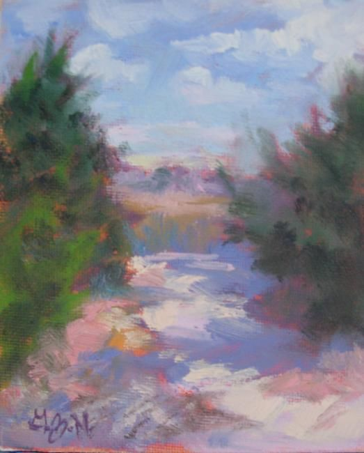"""Painting titled """"Peering into the Ma…"""" by Gloria Nilsson, Original Art, Oil"""