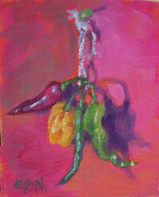 """Painting titled """"All Tied Up"""" by Gloria Nilsson, Original Art, Oil"""