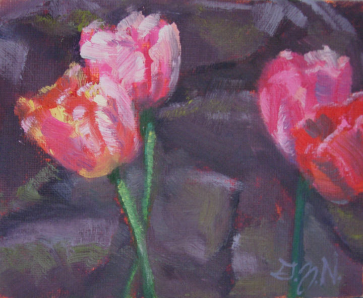 Painting, oil, impressionism, artwork by Gloria Nilsson