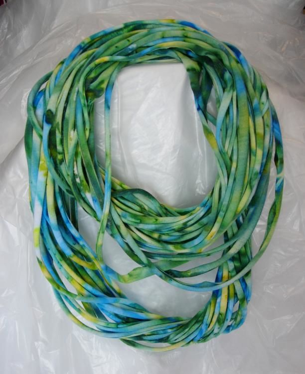 Original Eternity Scarf by Gloria Nilsson eternity,  circle,  infinity scarf,  hand painting,  cotton jersey knit