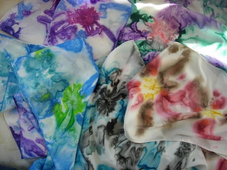 Hand Painted 100% Silk Scarves by Gloria Nilsson silk scarves,  whimsical jewelry,  fine art,  gifts,  art,  crafts,  local artists,  gloria nilsson
