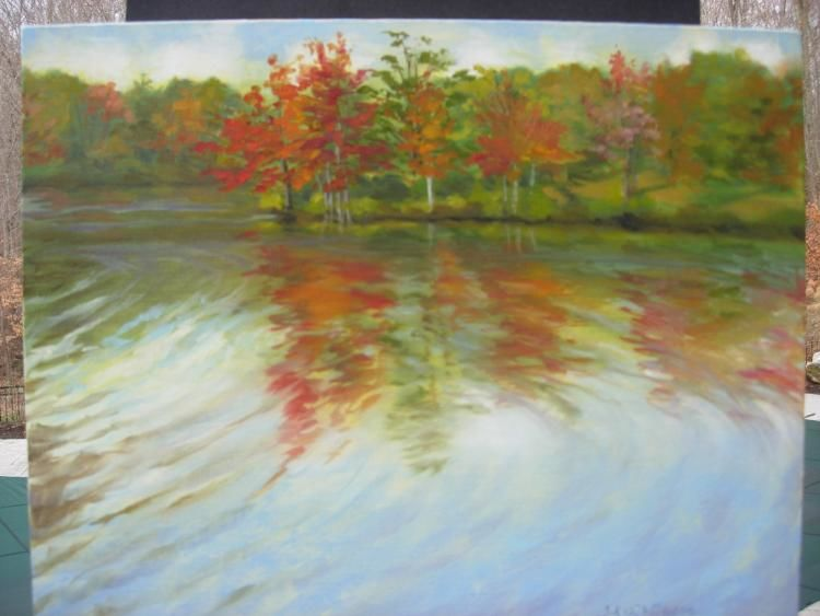 Ripples of Change 16 x 20 Oil on Canvas Board Festival,  Fine Arts,  Oils,  Pastels,  Watercolors,  Audubon,  Feathers,  Birds of Prey,  Bird Walk,  Local Artists,  Crafters,  FireCrow,  Flutes Native American Concert,