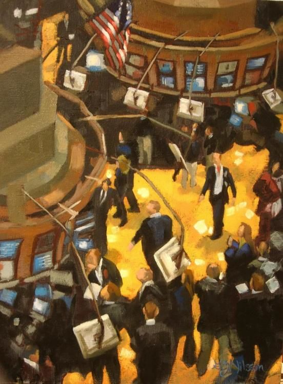 New York Stock Exchange, figurative, oil painting, contemporary realism fine art exhibition,   fine art sale,  oil painting,  new york stock exchange,  figurative,  contemporary realism