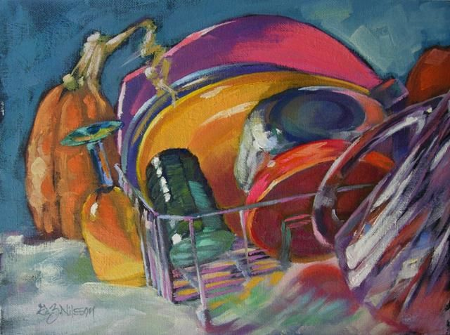 Después del partido,    original oil painting by Gloria Nilsson Outdoor Arts Festival,  waterfront of Clinton Landing,  painters,  jewelers,  fabric artists,  sculptors,  wood designers and glass artists