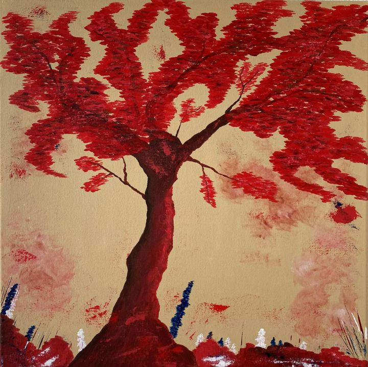 """Painting titled """"Tree of Life"""" by Hajnalka Fellmann, Original Art, Acrylic Mounted on Stretcher frame"""