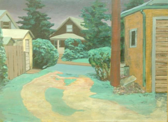 """Painting titled """"Lauraville - Evening"""" by Nick Aumiller, Original Art, Oil"""