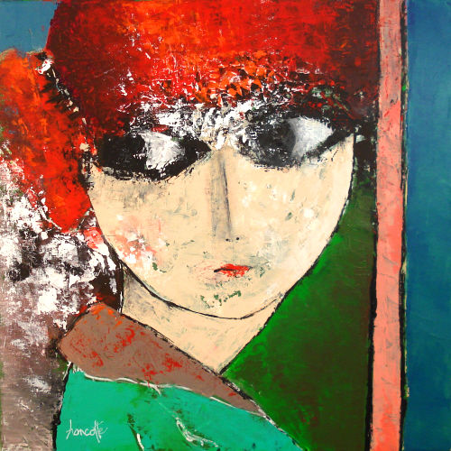 """Painting titled """"Mademoiselle"""" by Gilles Hancotte, Original Art, Acrylic"""