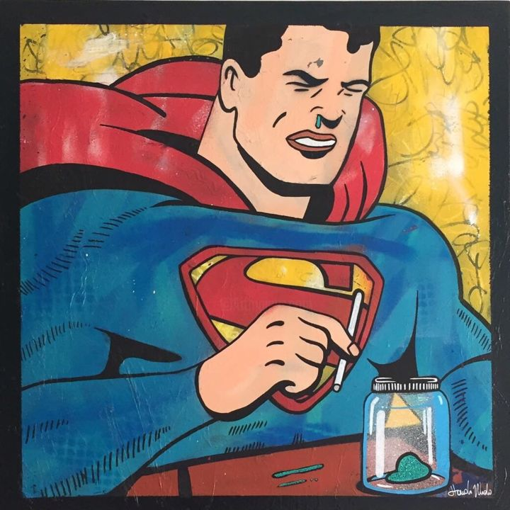 """Painting titled """"Only a man!"""" by Hando Wado, Original Art, Acrylic"""