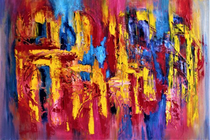 """Painting titled """"One With The Infini…"""" by Hanna Supetran, Original Art, Oil"""