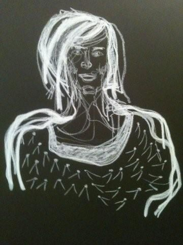 anne-sophie - Painting,  80x50 cm ©2012 by Hanna Rees -