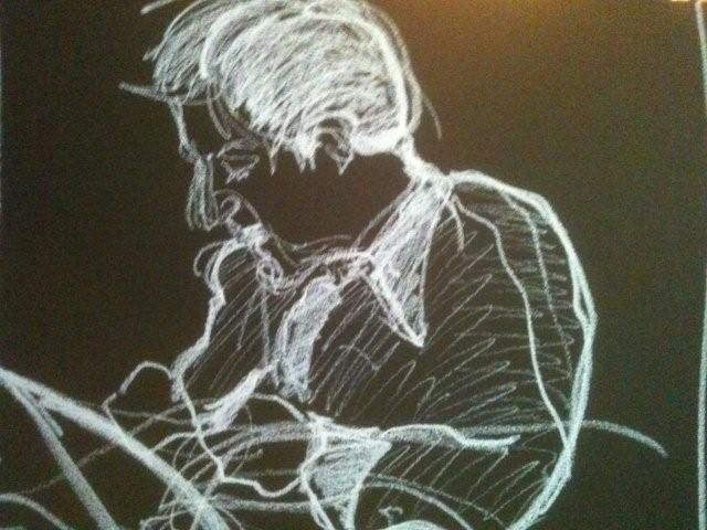 matthew - Painting,  45x55 cm ©2012 by Hanna Rees -