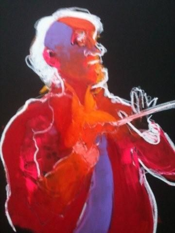 maestro toscanini - Painting,  70x120 cm ©2012 by Hanna Rees -