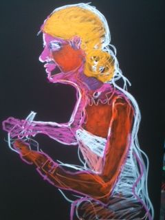 joyce dedicating - Painting,  85x150 cm ©2012 by Hanna Rees -