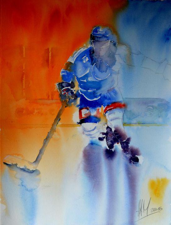 """Painting titled """"Power"""" by Hans-Peter Amherd, Original Art, Watercolor"""