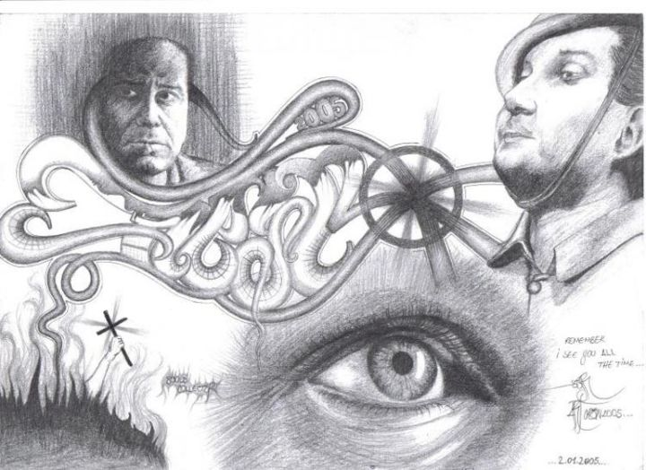 """Drawing titled """"Soul Collector"""" by Grotesque, Original Art,"""