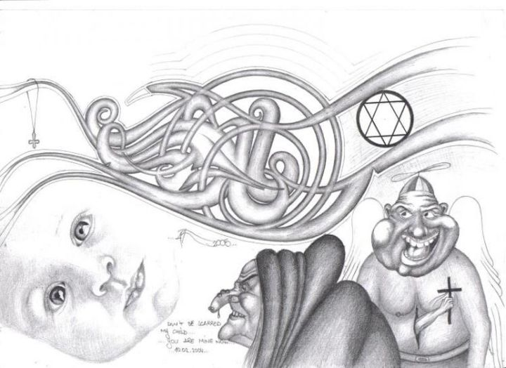 """Drawing titled """"Innocence"""" by Grotesque, Original Art,"""