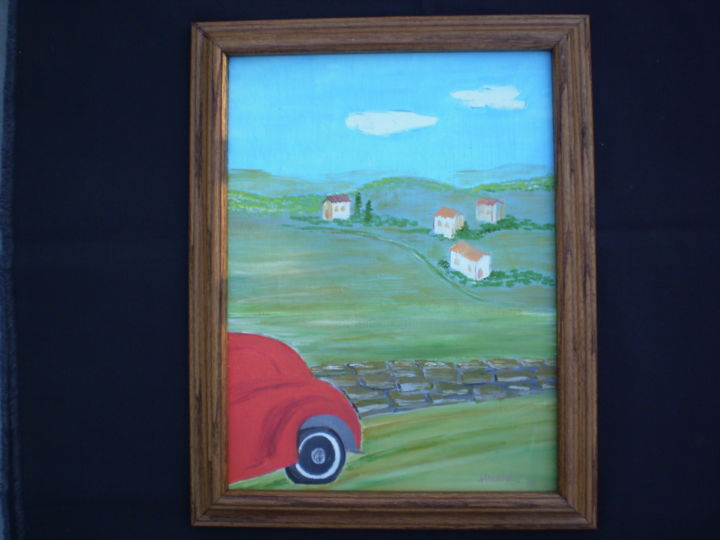 """Painting titled """"Tuscany Crusin"""" by Harold Messler, Original Art, Oil"""