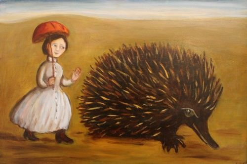 A Walk in the Wild - Painting,  33x48 cm ©2011 by Dudley -