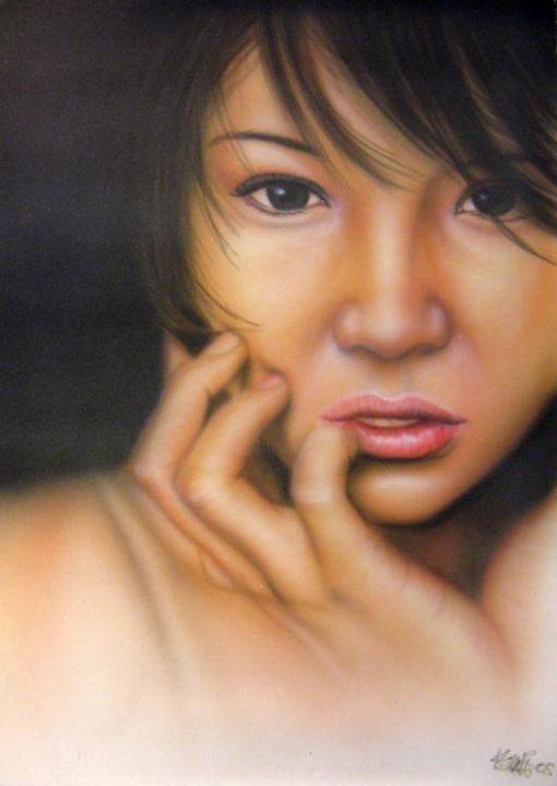 Asia - Painting,  23.6x19.7 in, ©2005 by Hassen Touati -