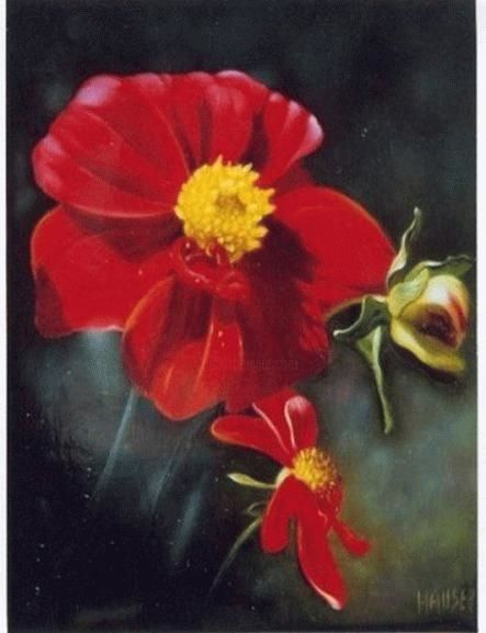 Dahlia - Painting ©2004 by Jean-Jacques Hauser -