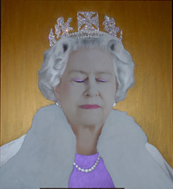 """Painting titled """""""" THE QUEEN E.R. Th…"""" by Hayo Sol, Original Art, Acrylic"""