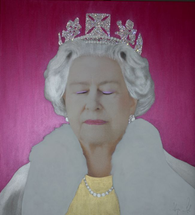"""Painting titled """"THE QUEEN E.R. The…"""" by Hayo Sol, Original Art, Acrylic"""