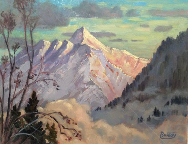 """Painting titled """"Mountain Dream"""" by Heather Beaton, Original Art, Oil"""
