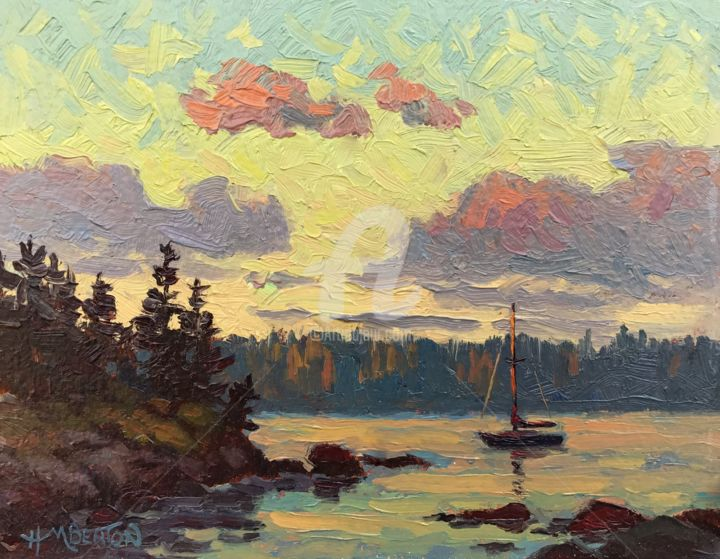 """Painting titled """"Last Rays"""" by Heather Beaton, Original Art, Oil"""
