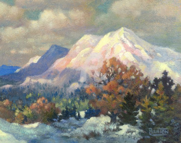 """Painting titled """"Autumn Mountains"""" by Heather Beaton, Original Art, Oil"""