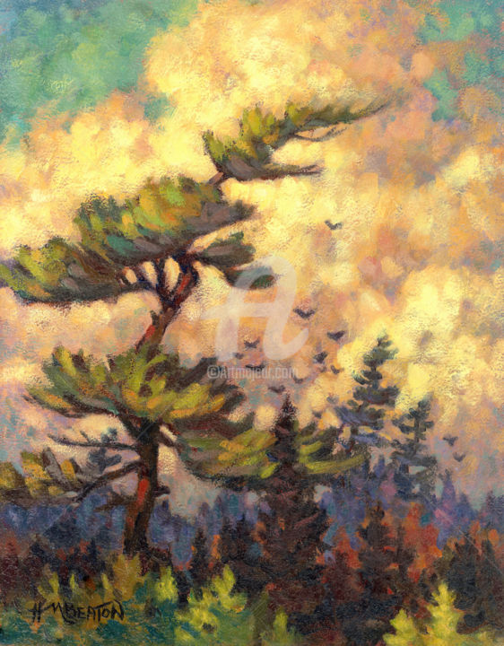 """Painting titled """"white-pine-20mb-art…"""" by Heather Beaton, Original Art, Oil"""
