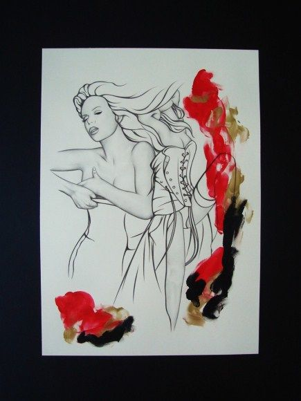 Agitation - Dessin,  15,8x11,8 in, ©2010 par heavenly -