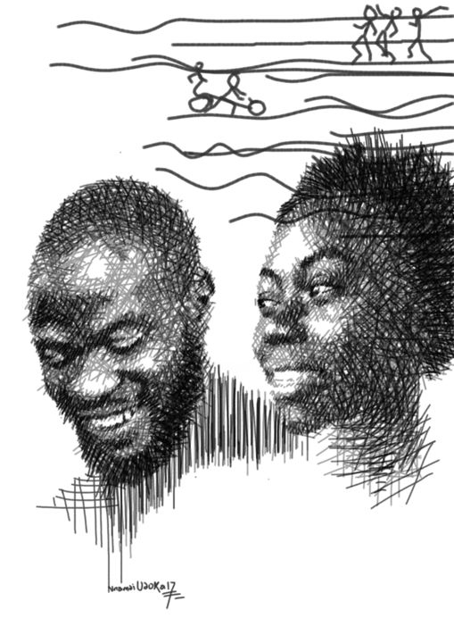"""Drawing titled """"they-say.jpg"""" by Hector Udoka, Original Art, Digital Photography"""